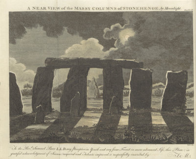 A monograph of Stonehenge columns from 1806